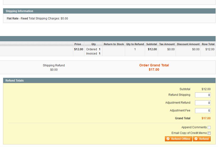 Refund From Admin Order