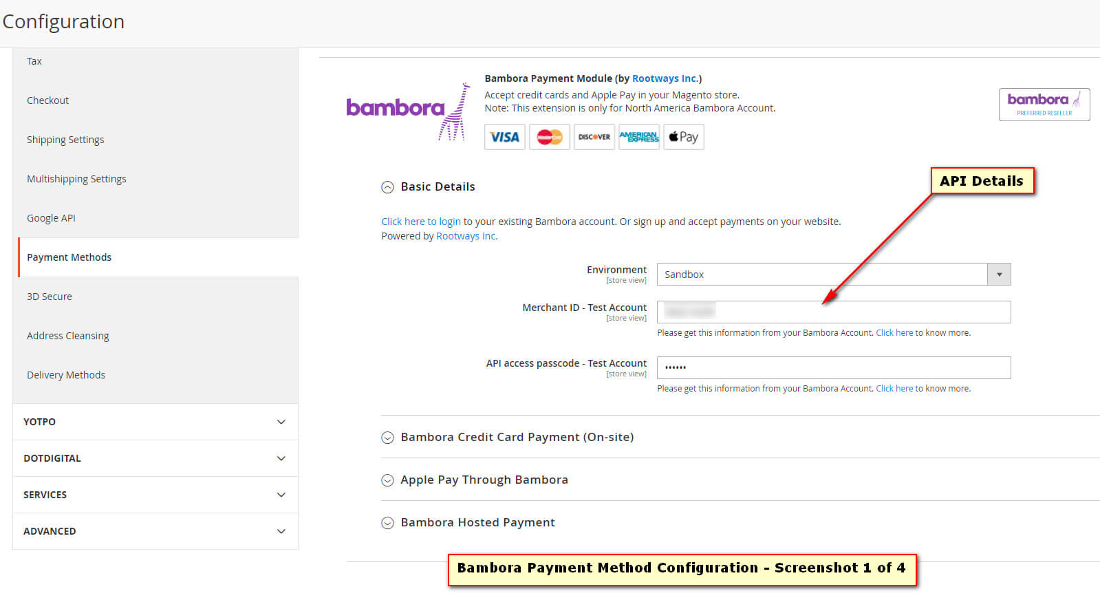 Bambora Payment Extension for Magento 2