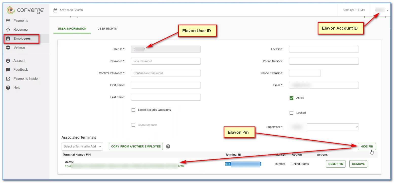 convergepay API Details