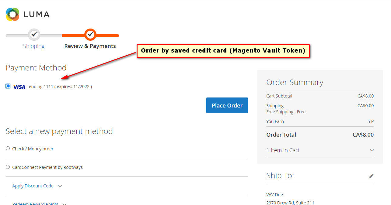 Magento 2 CardConnect Payment Extension