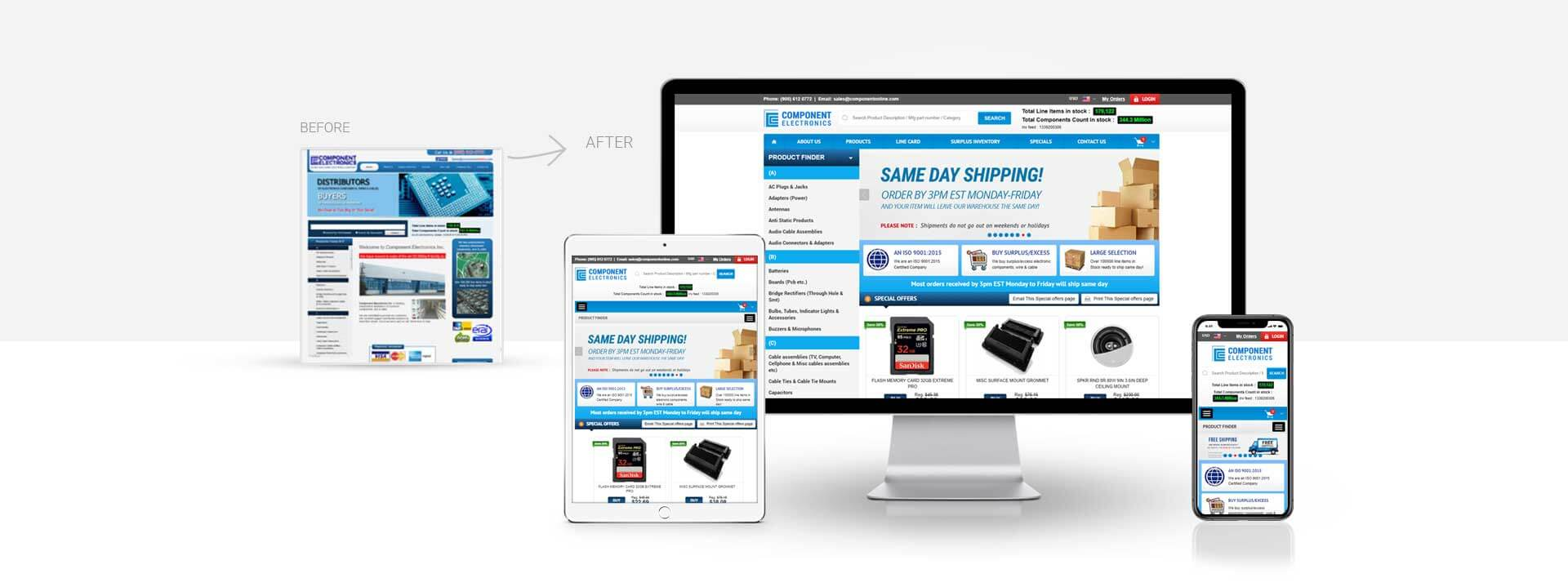 Ecommerce electronic components website