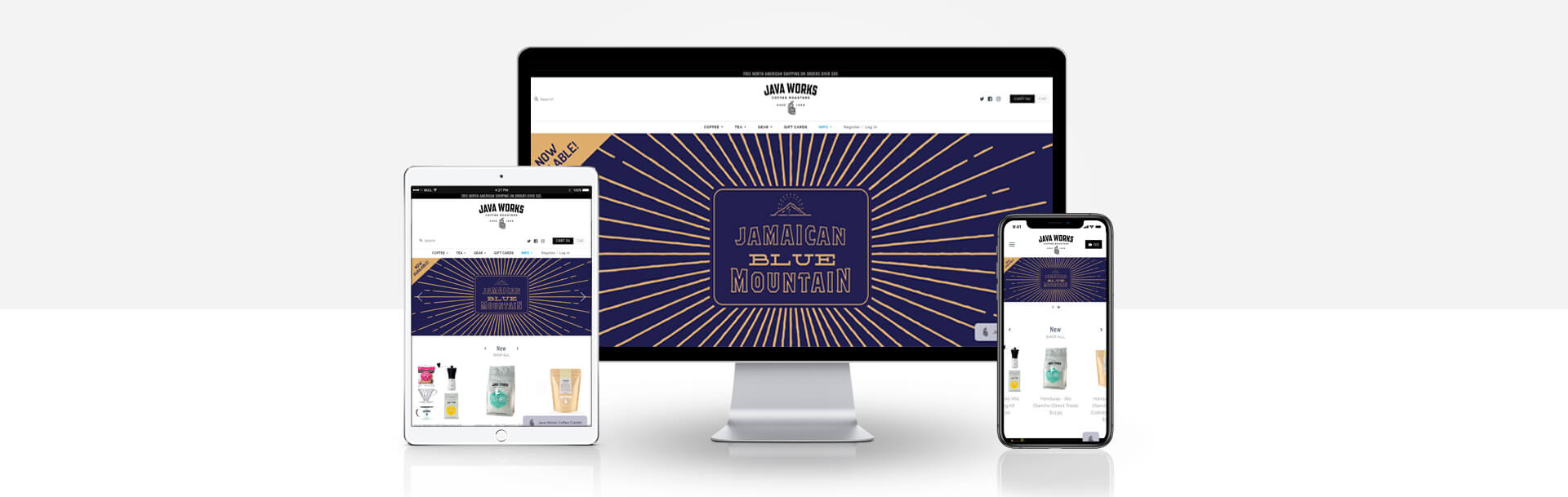 Magento coffee store website
