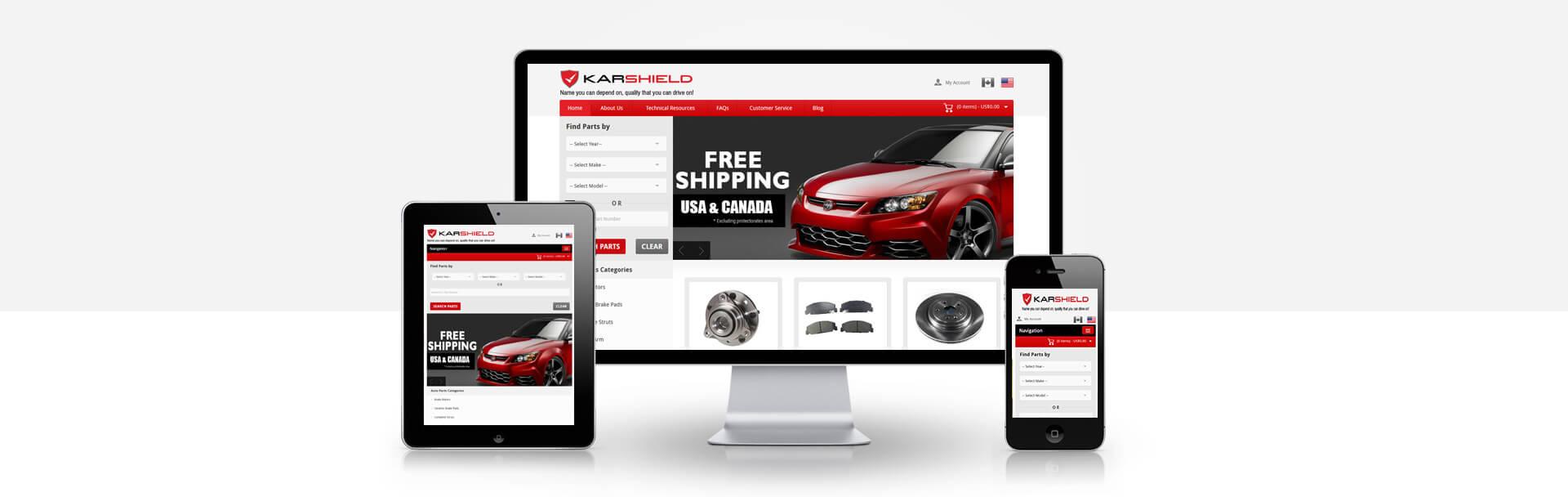 Magento Auto Parts Finder website
