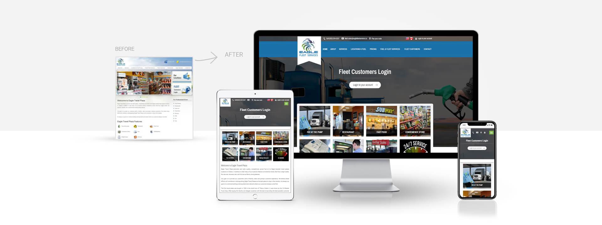 Wordpress Fuel, Fleet Services website
