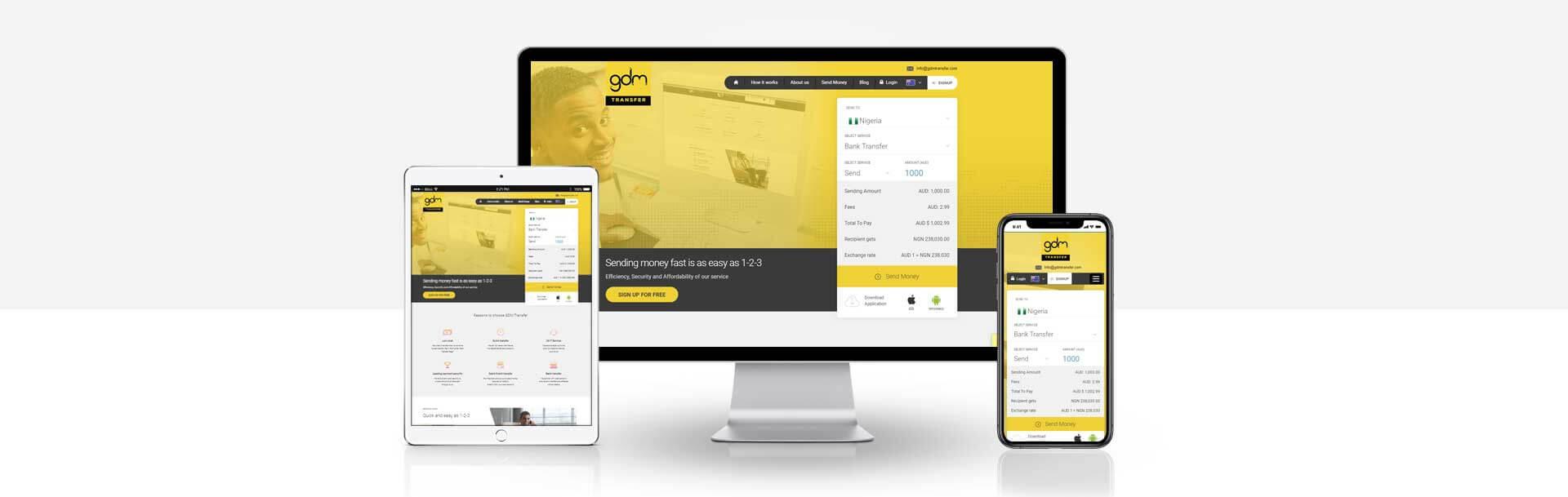 Wordpress Money transfer website