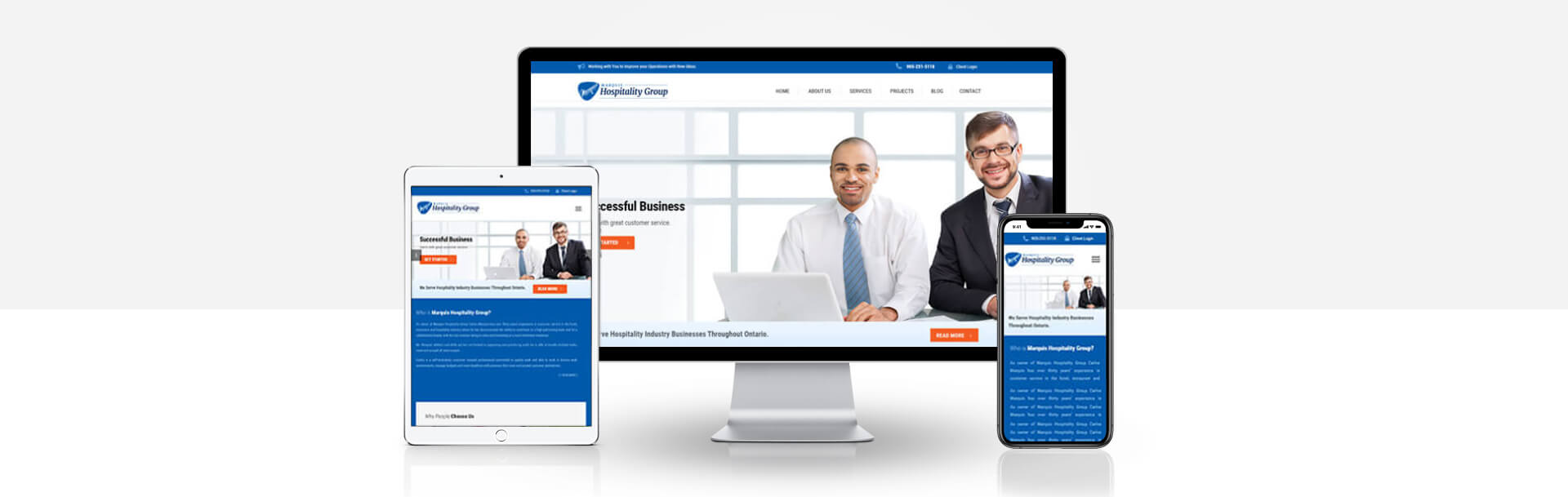 Wordpress hospitality business website