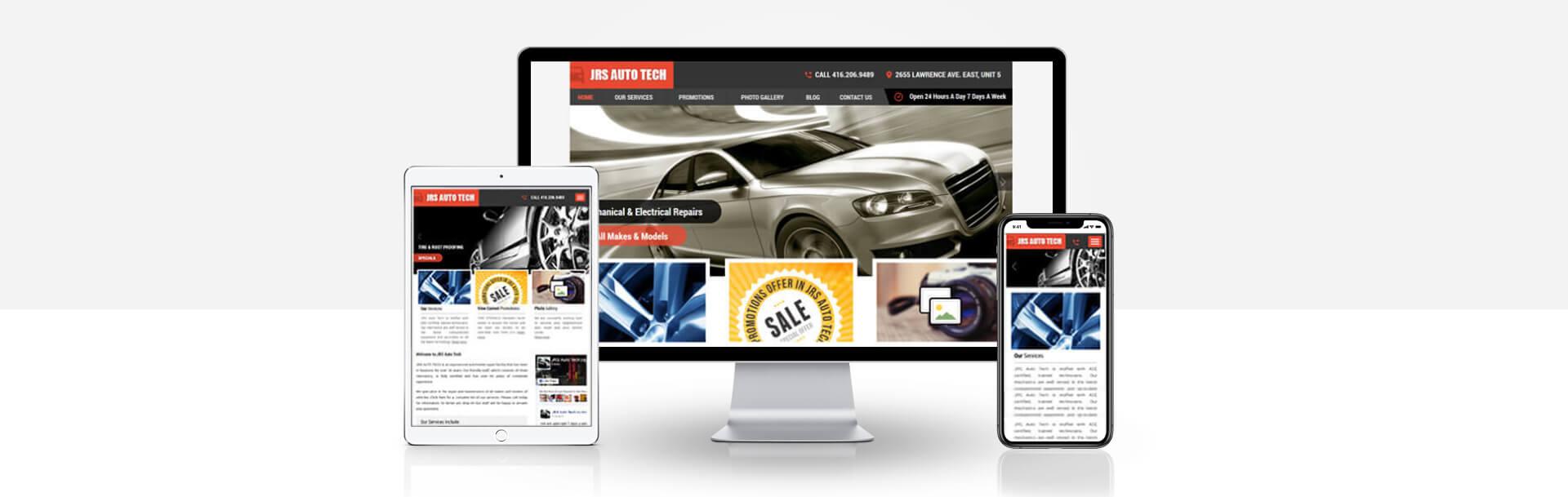 Custom Automobile Repair Center website