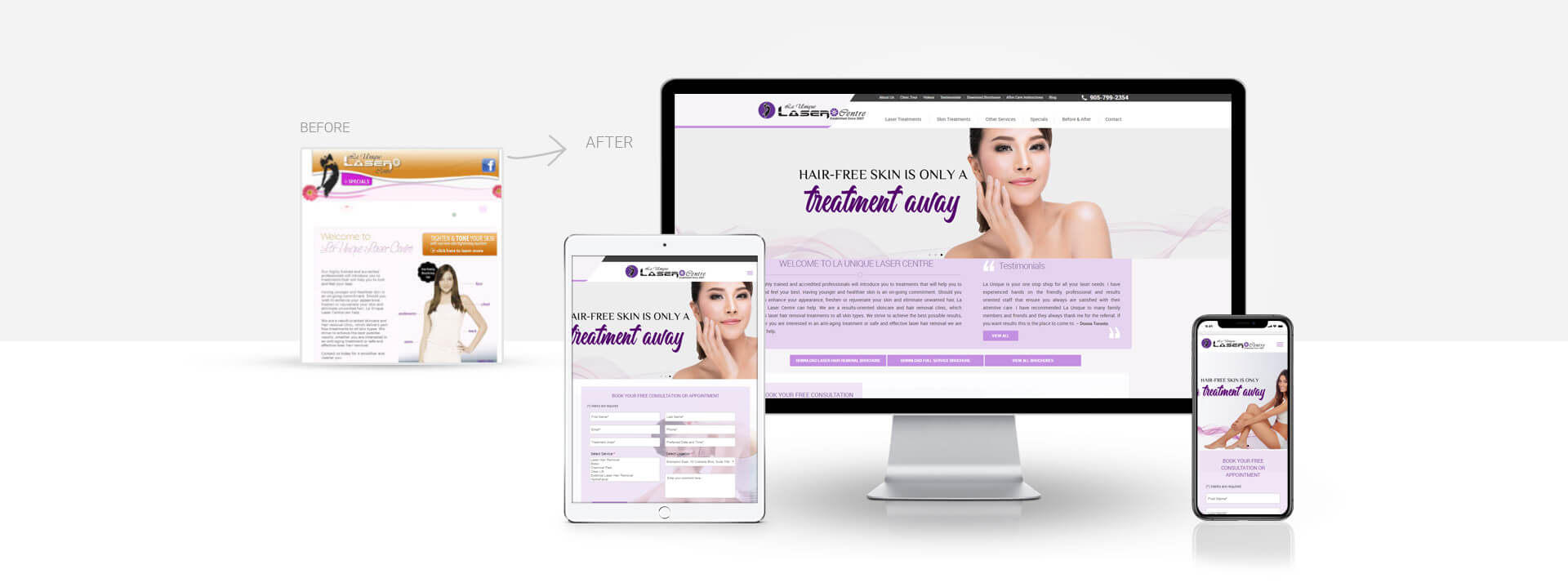 Wordpress beauty and laser center website