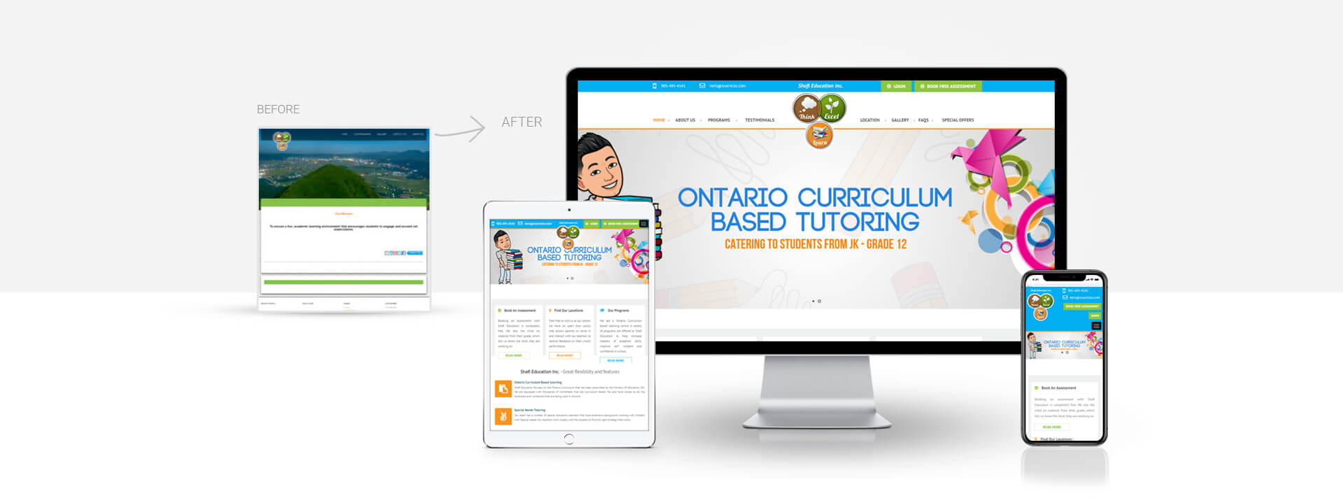 Wordpress Education Learning center website