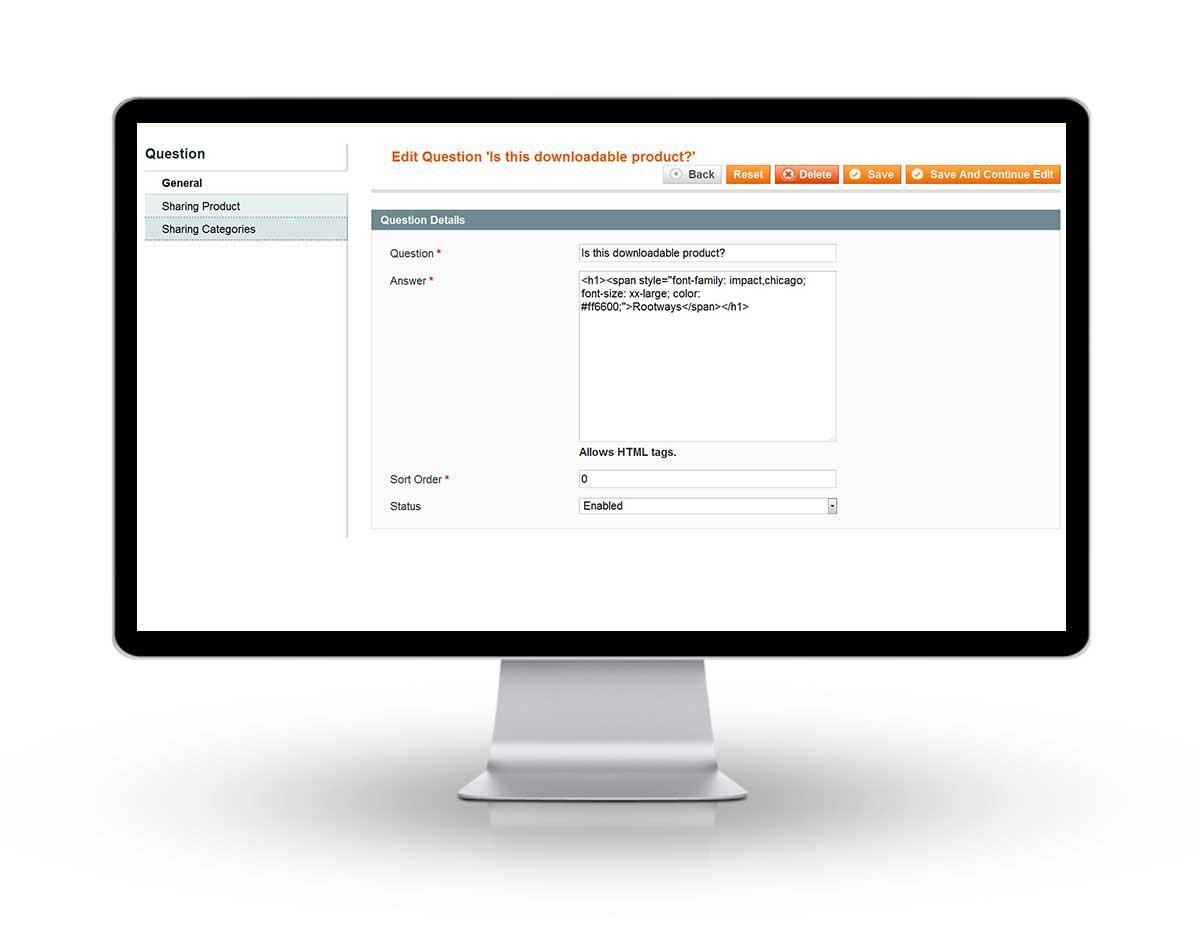Admin - FAQ General Information