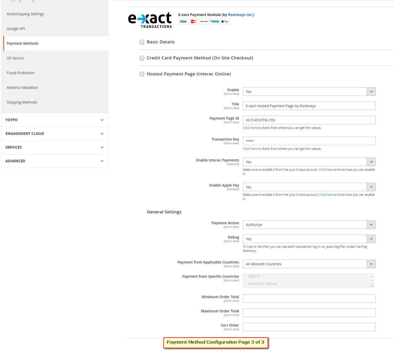Magento 2 E-xact payment gateway