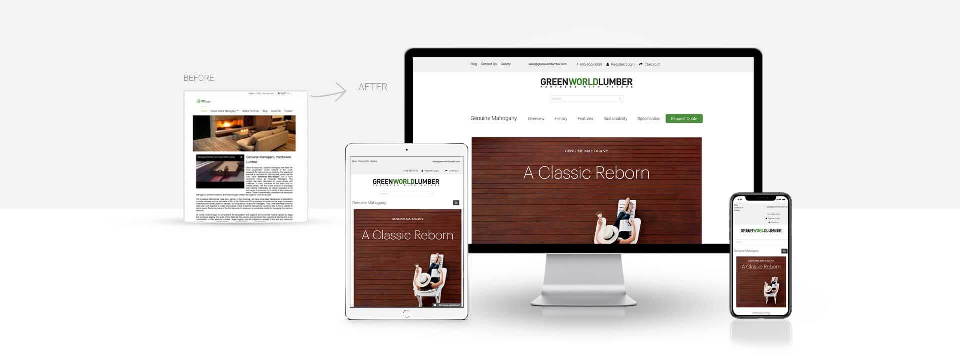 Magento Ecommerce Hardwood Suppliers Website