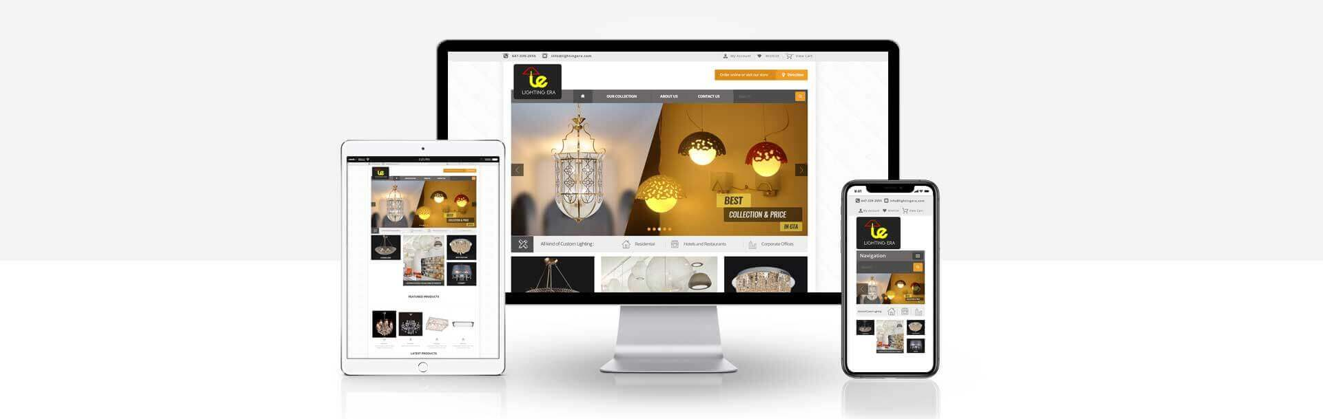 Magento lighting collection website