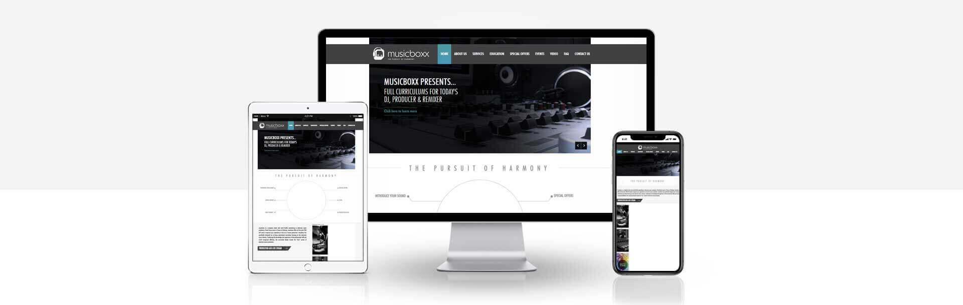 Magento music production website