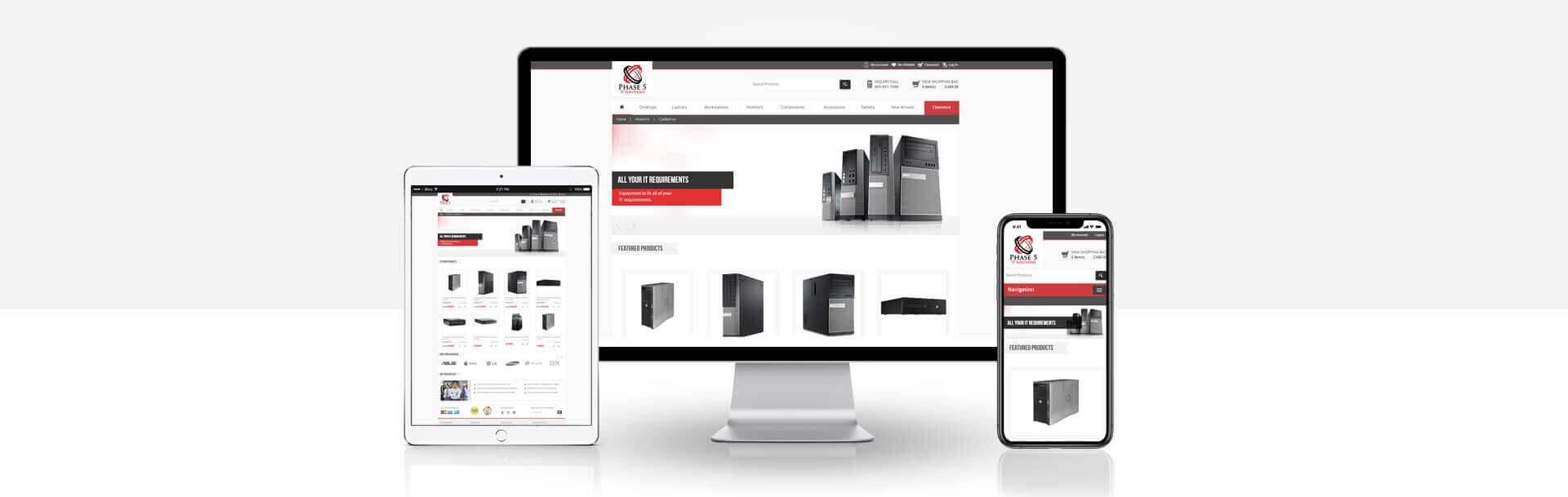 Magento Ecommerce IT equipments website