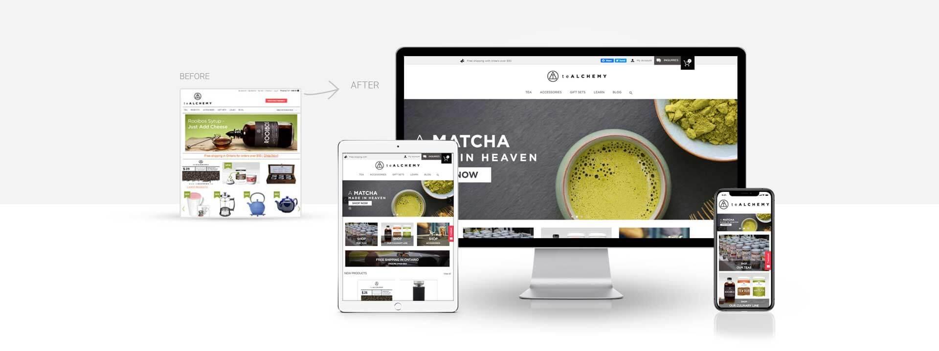 Magento online tea store