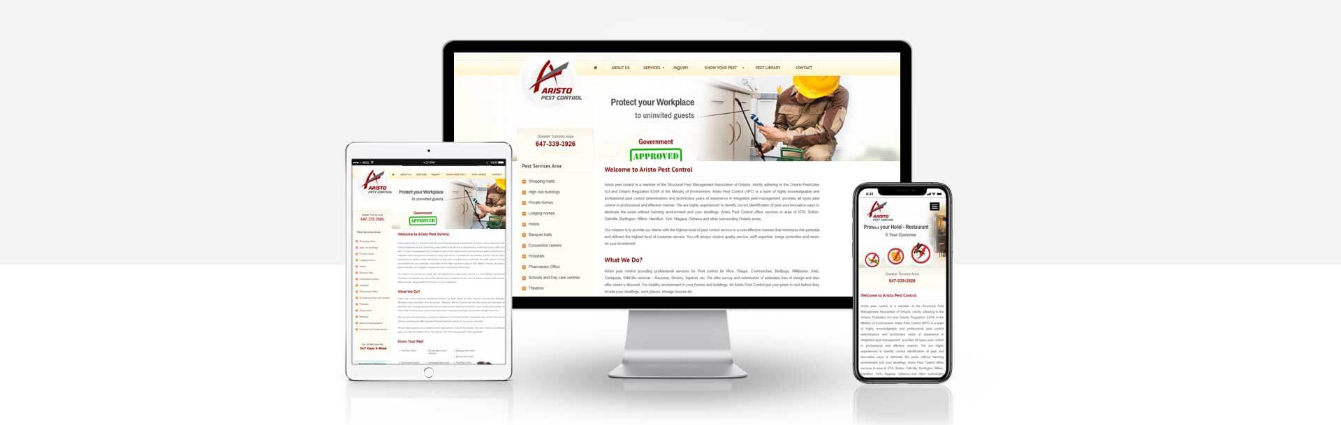 Wordpress Pest Control Services website