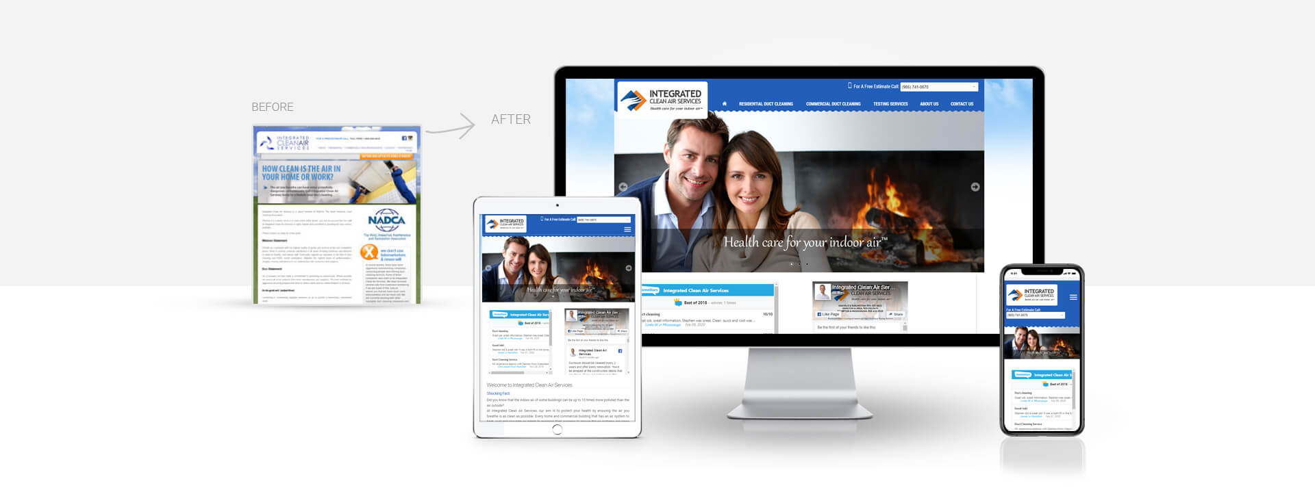 Wordpress Air, duct cleaning services website