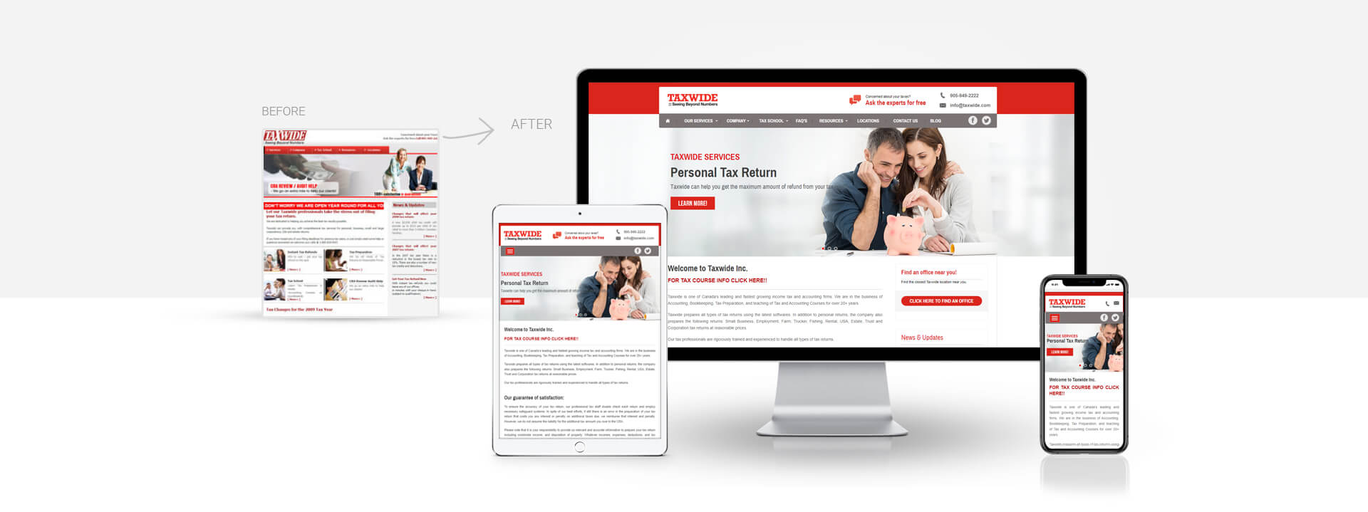 Wordpress accounting, tax firm website