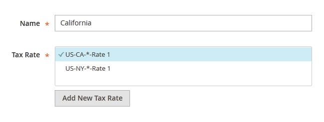 magento tax rates SS5