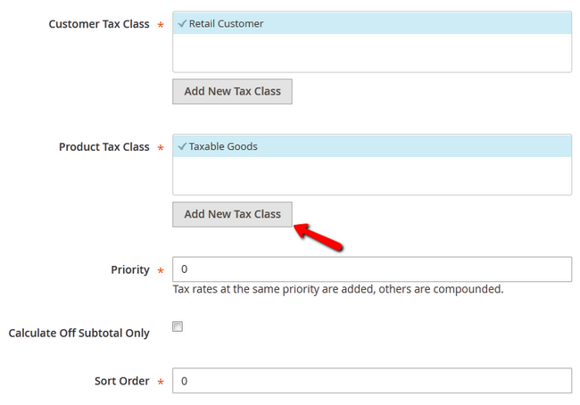 magento tax rates SS6